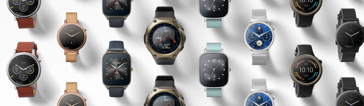 Set of Android smart watches