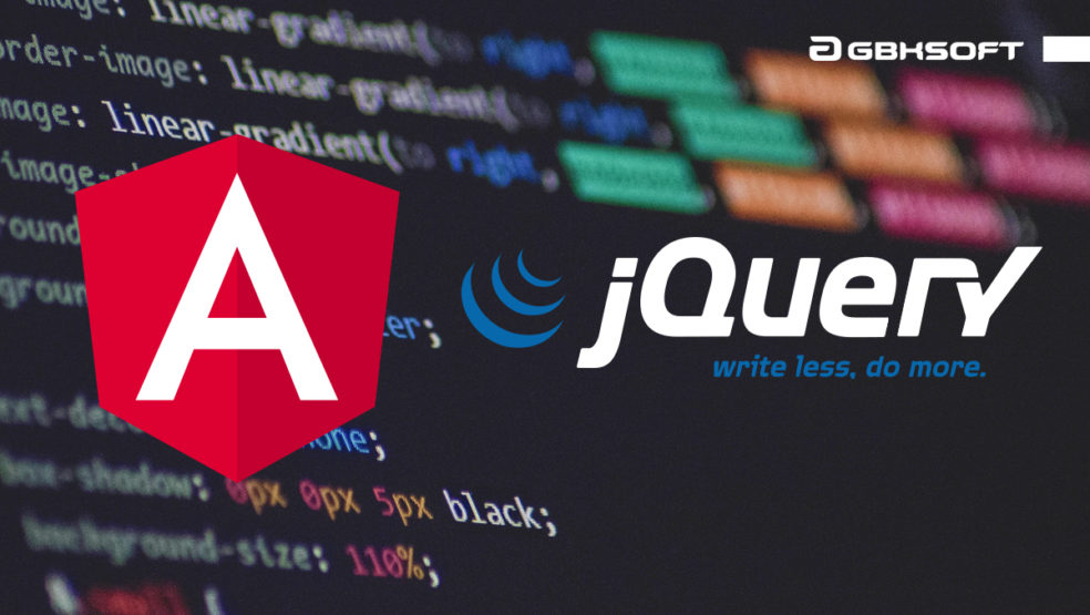 the difference between jguery and angularjs